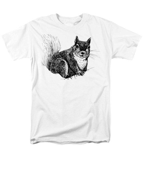 Squirrel Drawing Men's T-Shirt  (Regular Fit) by Katerina Kirilova