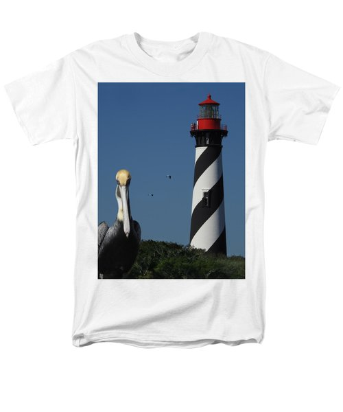 Men's T-Shirt  (Regular Fit) featuring the photograph St. Augustine Lighthouse by Rod Seel