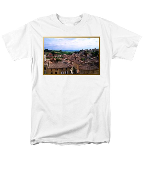 Men's T-Shirt  (Regular Fit) featuring the photograph St. Emilion View by Joan  Minchak