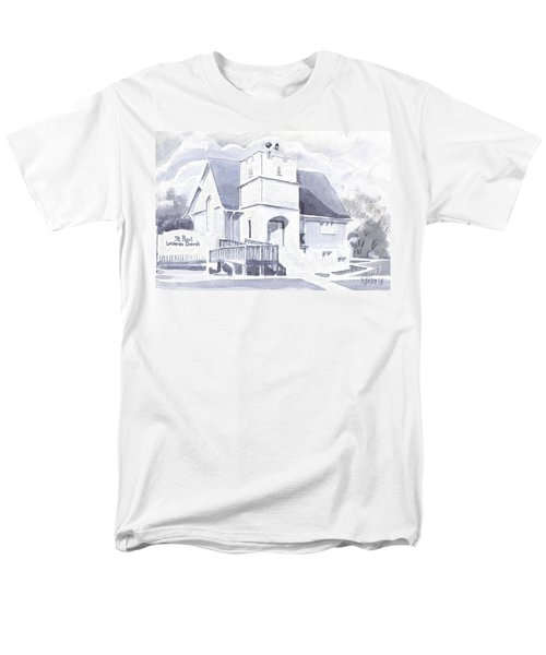 St. Paul Lutheran Church 2 Men's T-Shirt  (Regular Fit) by Kip DeVore