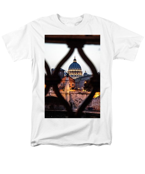 Men's T-Shirt  (Regular Fit) featuring the photograph St. Peter's Basilica From The St. Angelo Bridge by Jean Haynes