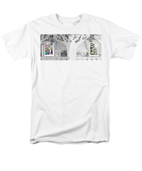 Stained Glass Windows Disney Men's T-Shirt  (Regular Fit) by Roger Lighterness