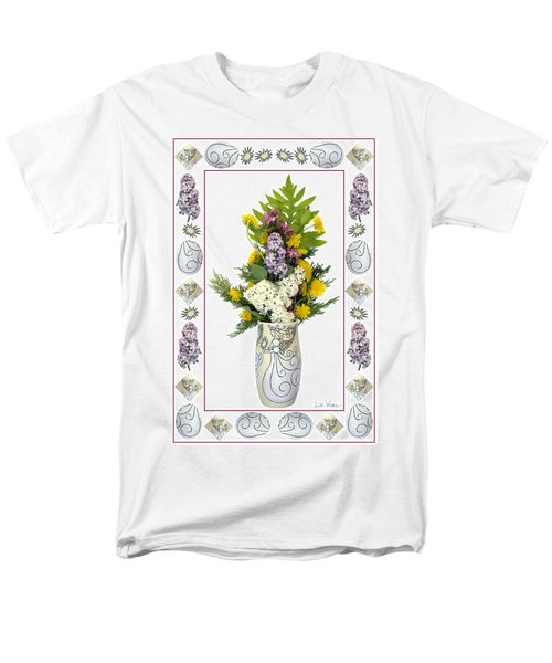 Men's T-Shirt  (Regular Fit) featuring the photograph Star Vase With A Bouquet From Heaven by Lise Winne