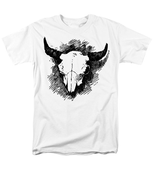Steer Skull Tee Men's T-Shirt  (Regular Fit) by Edward Fielding