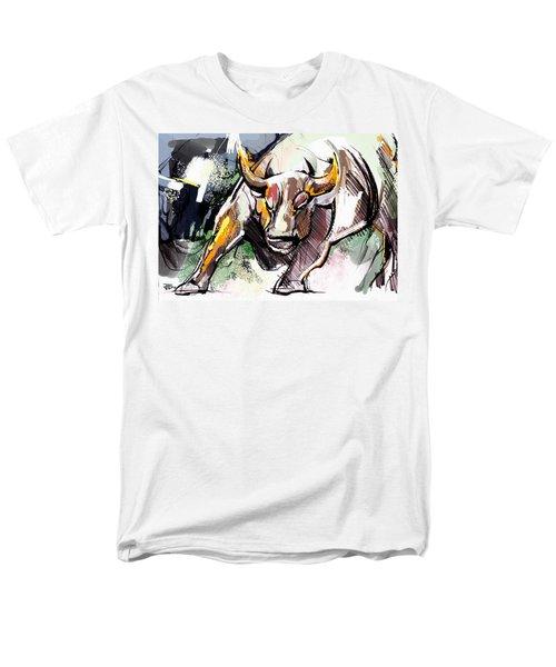 Stock Market Bull Men's T-Shirt  (Regular Fit) by John Jr Gholson