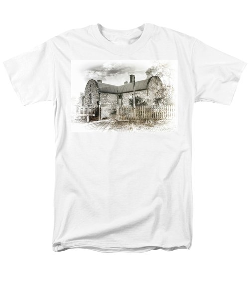 Men's T-Shirt  (Regular Fit) featuring the photograph Stone Cottage by Wayne Sherriff