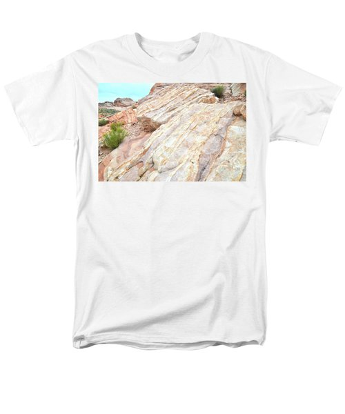 Men's T-Shirt  (Regular Fit) featuring the photograph Stone Feet In Valley Of Fire by Ray Mathis