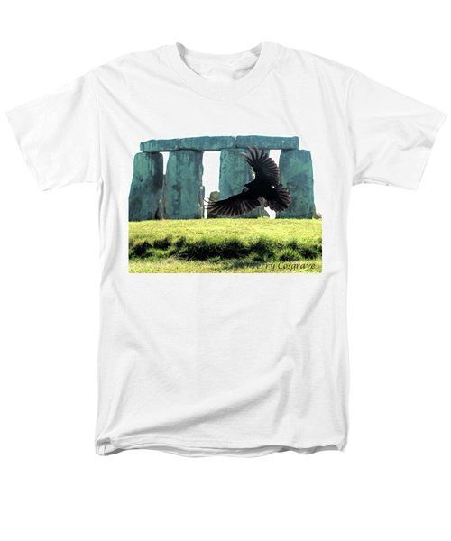 Men's T-Shirt  (Regular Fit) featuring the photograph Stonehenge Crow by Terry Cosgrave
