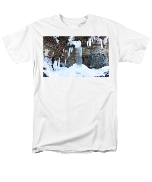 Men's T-Shirt  (Regular Fit) featuring the photograph Stony Kill Falls In February #1 by Jeff Severson