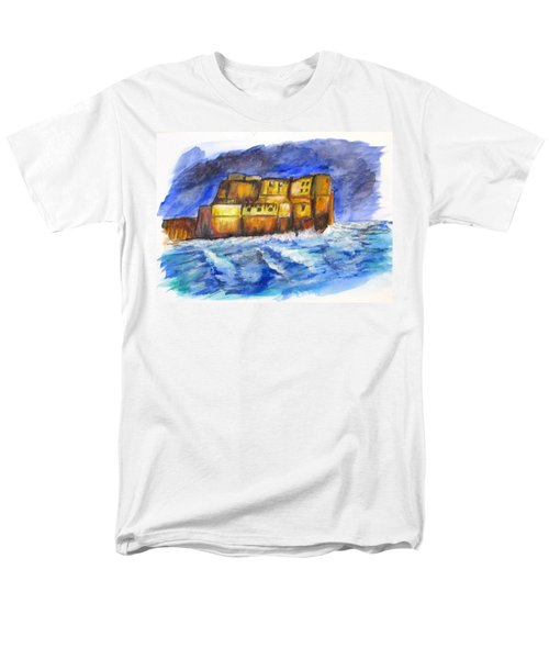 Stormy Castle Dell'ovo, Napoli Men's T-Shirt  (Regular Fit) by Clyde J Kell