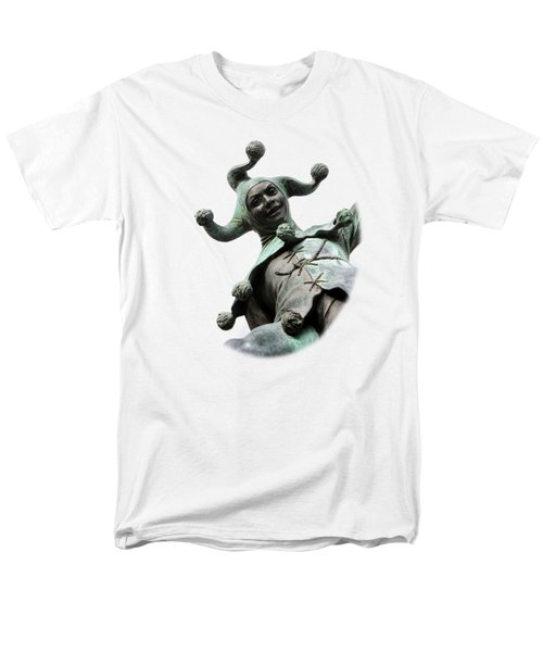 Stratford's Jester Statue On Transparent Background Men's T-Shirt  (Regular Fit) by Terri Waters