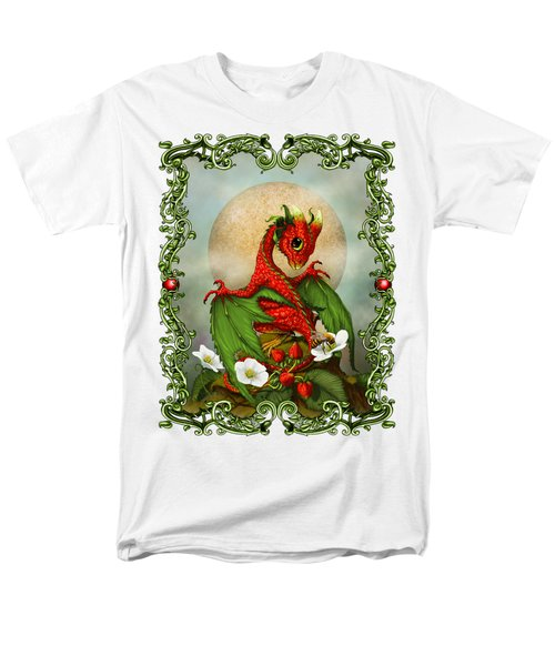 Strawberry Dragon T-shirt Men's T-Shirt  (Regular Fit) by Stanley Morrison