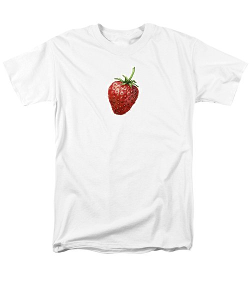 Men's T-Shirt  (Regular Fit) featuring the painting Strawberry by Heidi Kriel