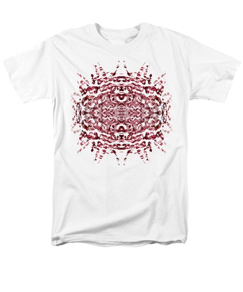 Strawberry Red Abstract Men's T-Shirt  (Regular Fit) by Frank Tschakert