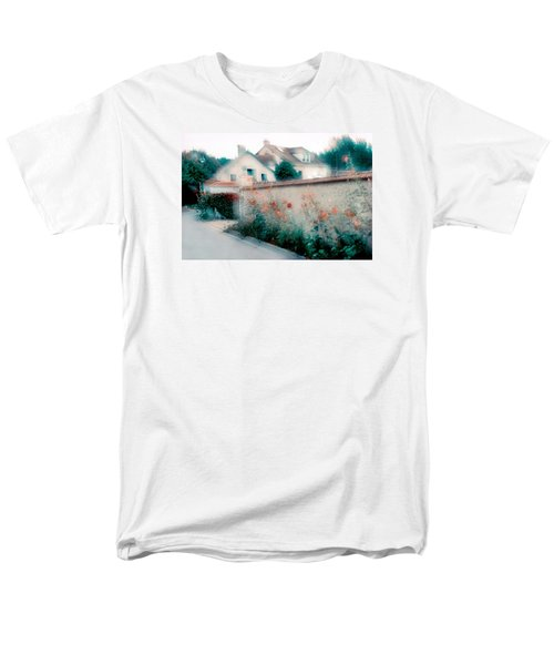 Street In Giverny, France Men's T-Shirt  (Regular Fit) by Dubi Roman