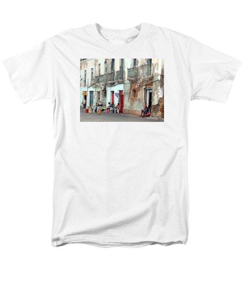 Street Scene Luanda, Angola Men's T-Shirt  (Regular Fit) by John Potts