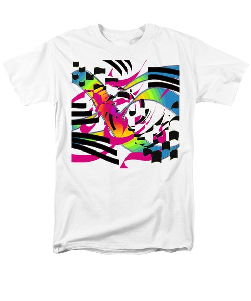 Stripes And Color Men's T-Shirt  (Regular Fit) by Adria Trail
