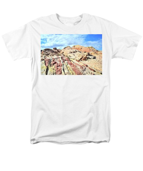 Stripes Of Valley Of Fire Men's T-Shirt  (Regular Fit) by Ray Mathis
