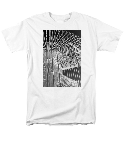 Men's T-Shirt  (Regular Fit) featuring the photograph Structure Abstract 4 by Cheryl Del Toro