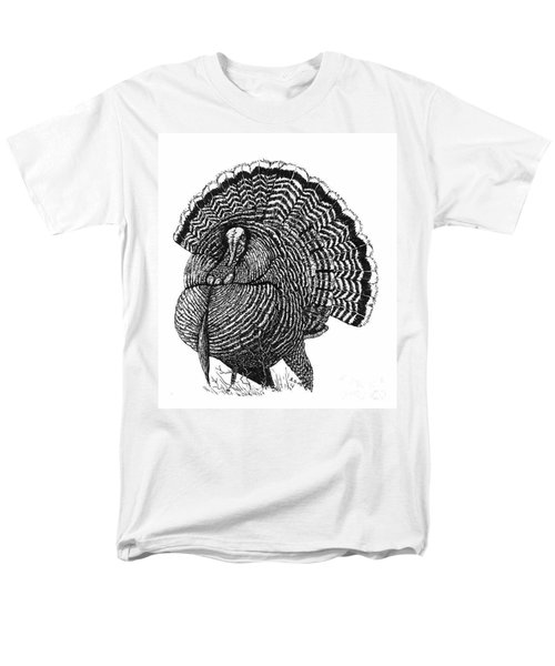 Strutting Gobbler Men's T-Shirt  (Regular Fit) by Suzanne McKee
