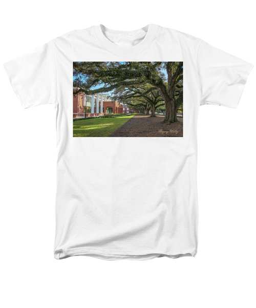 Men's T-Shirt  (Regular Fit) featuring the photograph Student Union Oaks by Gregory Daley  PPSA
