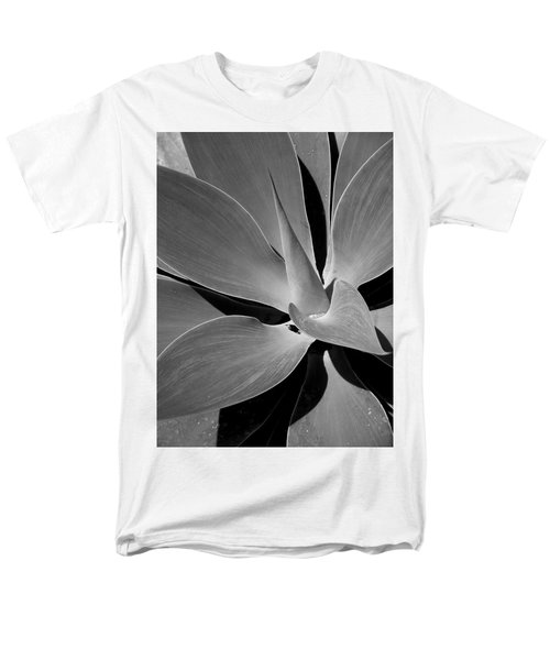 Succulent In Black And White Men's T-Shirt  (Regular Fit) by Karen Nicholson