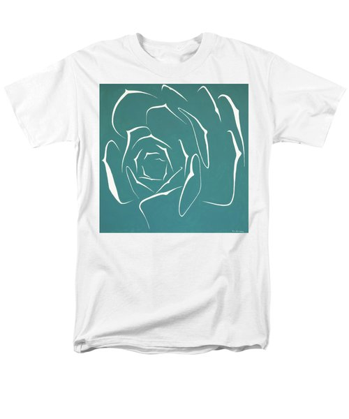 Men's T-Shirt  (Regular Fit) featuring the painting Succulent In Turquoise by Ben Gertsberg