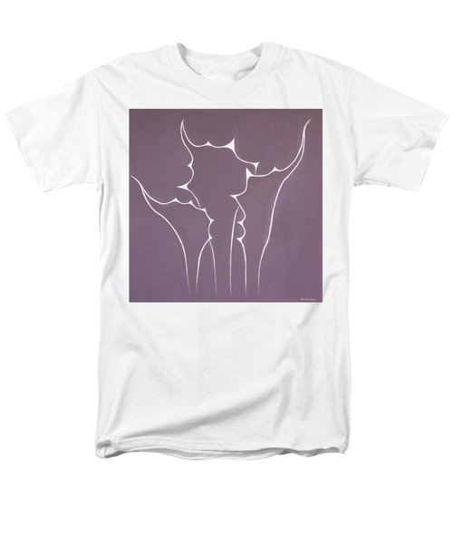 Men's T-Shirt  (Regular Fit) featuring the painting Succulent In Violet by Ben Gertsberg
