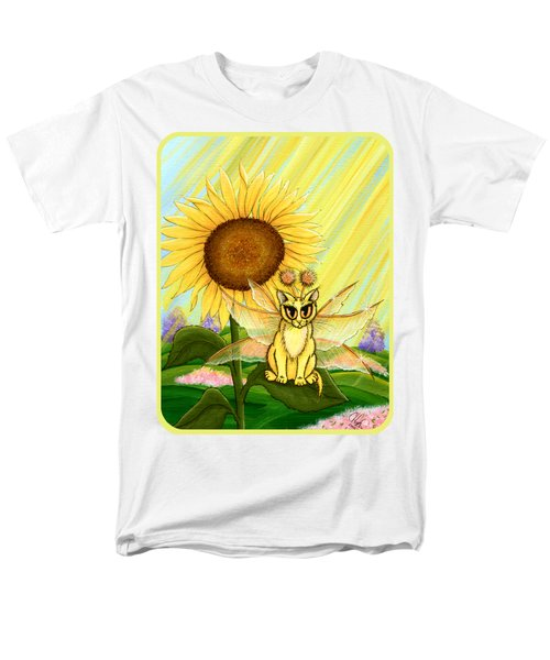 Men's T-Shirt  (Regular Fit) featuring the painting Summer Sunshine Fairy Cat by Carrie Hawks