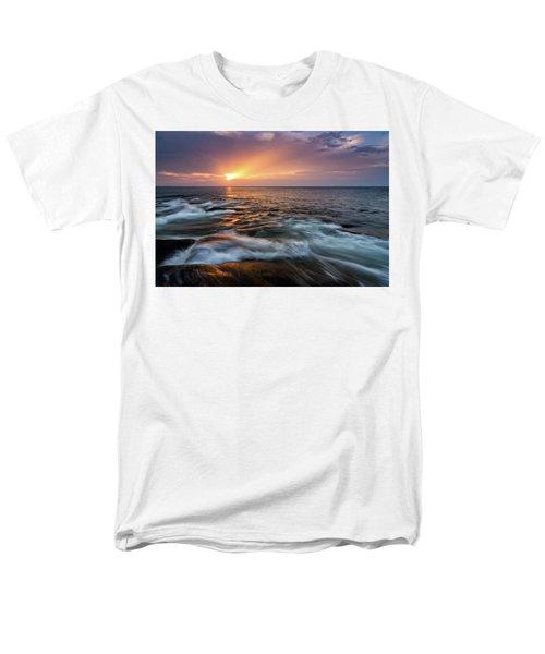 Sun Beams Halibut Pt. Rockport Ma. Men's T-Shirt  (Regular Fit) by Michael Hubley