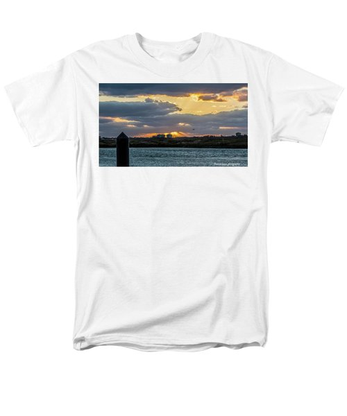 Sun Rays Over The Intracoastal  Men's T-Shirt  (Regular Fit) by Nance Larson