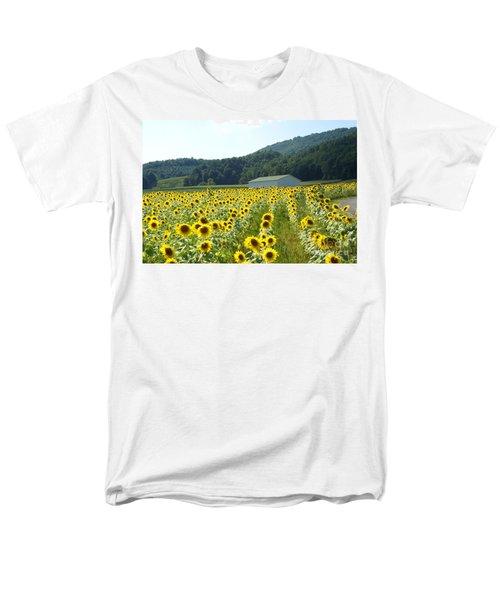 Sunflower Field Men's T-Shirt  (Regular Fit) by Annlynn Ward
