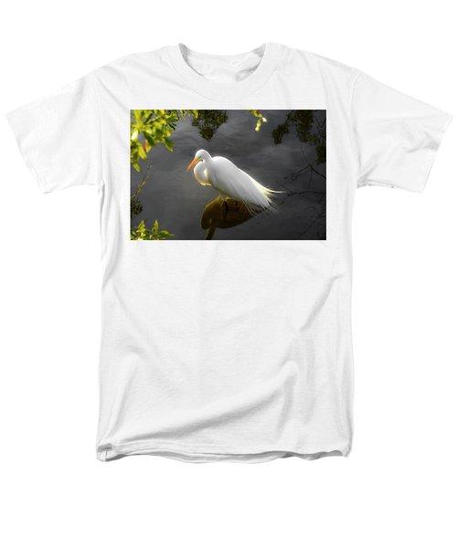 Sunny Egret Men's T-Shirt  (Regular Fit) by Josy Cue