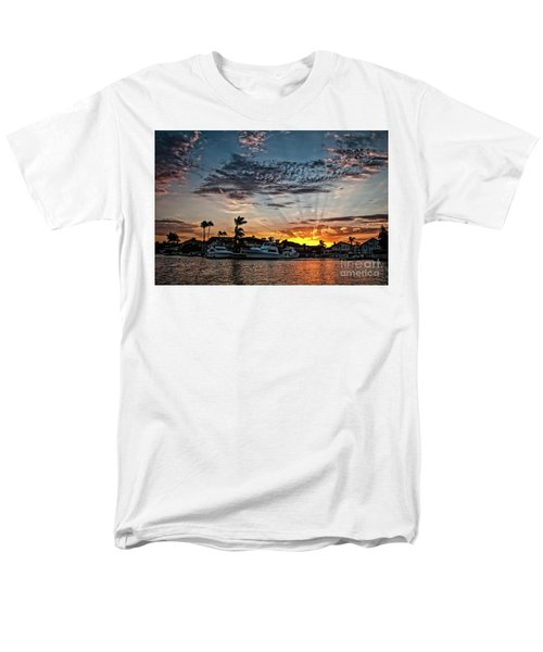 Sunrays Over Huntington Harbour Men's T-Shirt  (Regular Fit) by Peter Dang
