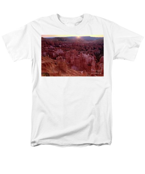 Sunrise Over The Hoodoos Bryce Canyon National Park Men's T-Shirt  (Regular Fit) by Dave Welling