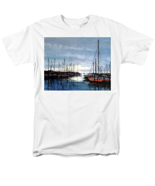 Men's T-Shirt  (Regular Fit) featuring the painting Sunset At Apollo Beach by Janet King