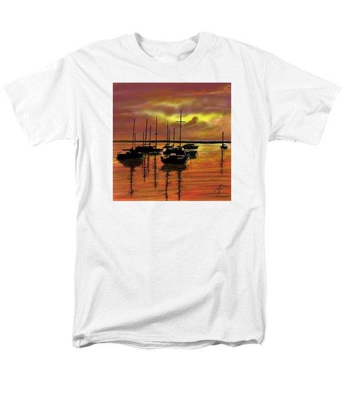 Men's T-Shirt  (Regular Fit) featuring the digital art Sunset by Darren Cannell