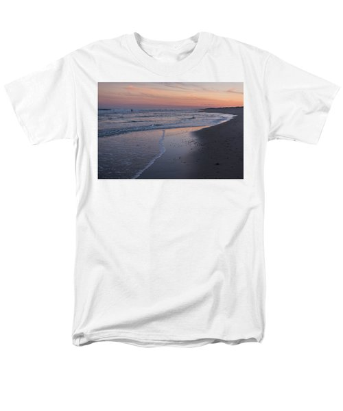 Men's T-Shirt  (Regular Fit) featuring the photograph Sunset Fishing Seaside Park Nj by Terry DeLuco