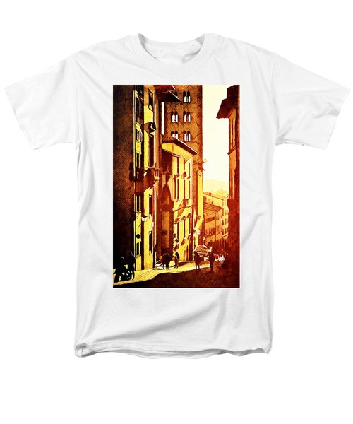 Men's T-Shirt  (Regular Fit) featuring the digital art Sunset In Arezzo by Andrea Barbieri