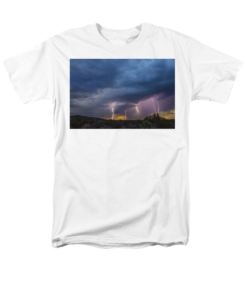 Sunset Lightning Men's T-Shirt  (Regular Fit) by Kathy Adams Clark