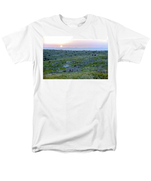 Sunset Over A 2000 Years Old Village Men's T-Shirt  (Regular Fit) by Dubi Roman