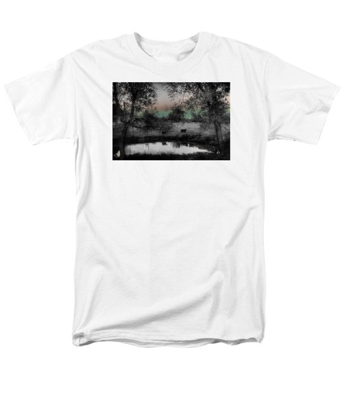Sunset Over The Pond Men's T-Shirt  (Regular Fit) by Karen McKenzie McAdoo