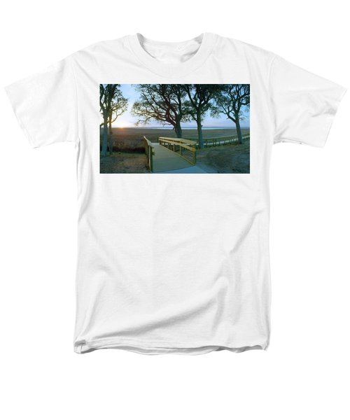 Sunset Over The Sound Men's T-Shirt  (Regular Fit) by Jan W Faul
