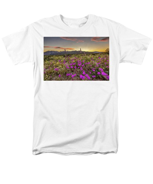 Men's T-Shirt  (Regular Fit) featuring the photograph Super Bloom Sunset by Peter Tellone