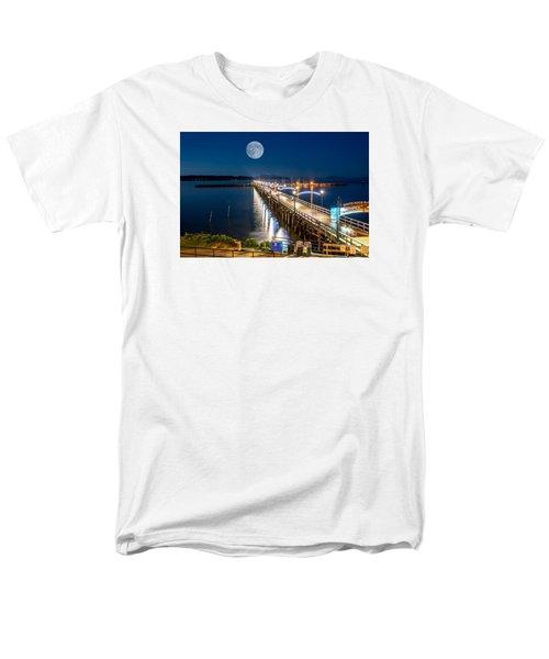 Super Moon Over White Rock Men's T-Shirt  (Regular Fit) by Sabine Edrissi