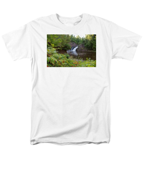 Men's T-Shirt  (Regular Fit) featuring the photograph Superior Falls by Sandra Updyke