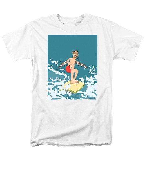 Surferbird Men's T-Shirt  (Regular Fit) by Megan Dirsa-DuBois