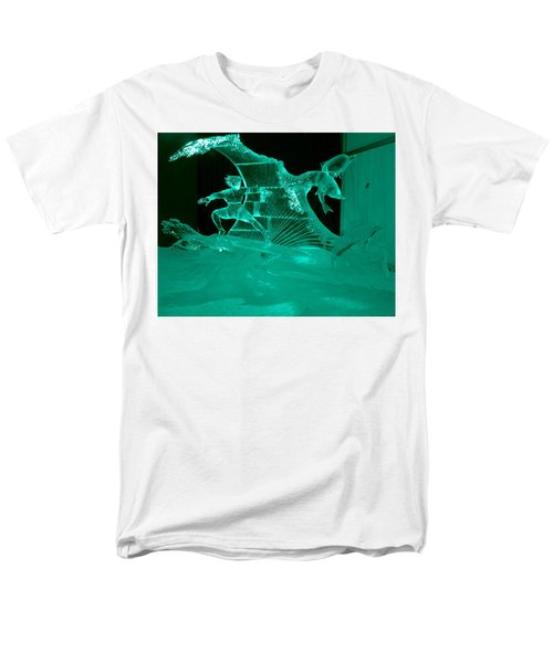 Surfing With Dolphins Men's T-Shirt  (Regular Fit) by Betty-Anne McDonald