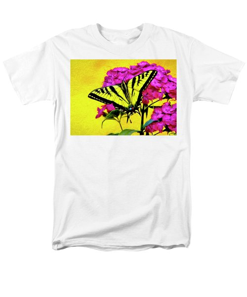 Swallow Tail Feeding Men's T-Shirt  (Regular Fit) by James Steele
