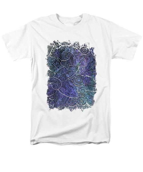 Swan Dance Berry Blues 3 Dimensional Men's T-Shirt  (Regular Fit) by Di Designs